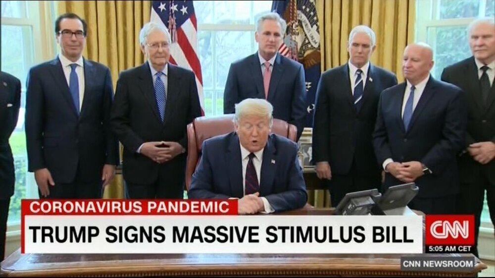 سی ان ان با انتشار تصویری از کاخ سفید کانون شیوع کرونا را نشان داد، عکس