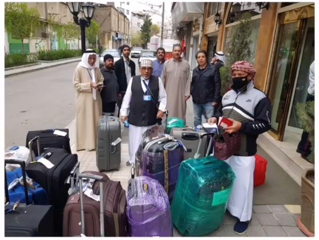 خبرنگاران بازگشت سومین گروه از زائران بحرینی به وطنشان
